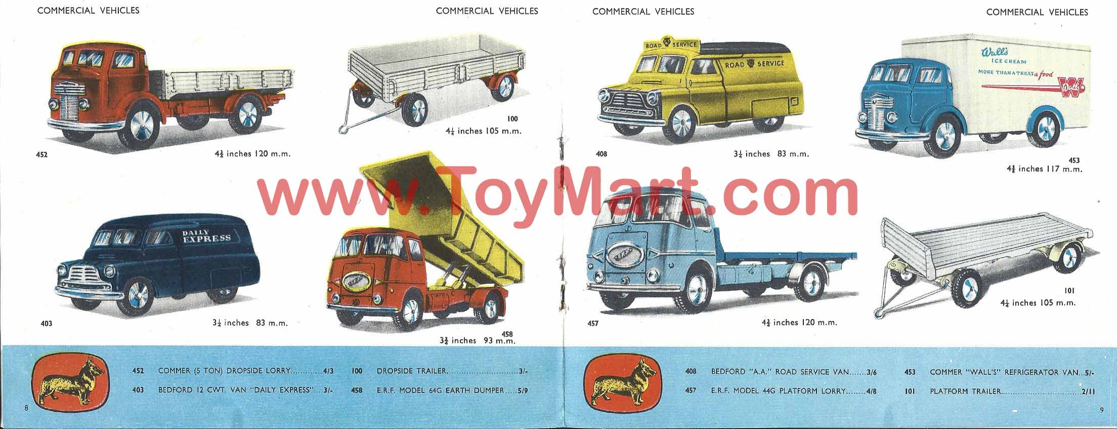 2016 ToyMart.com Ltd. All Rights Reserved: www.toymart.com/catalogues_corgi_1958.php