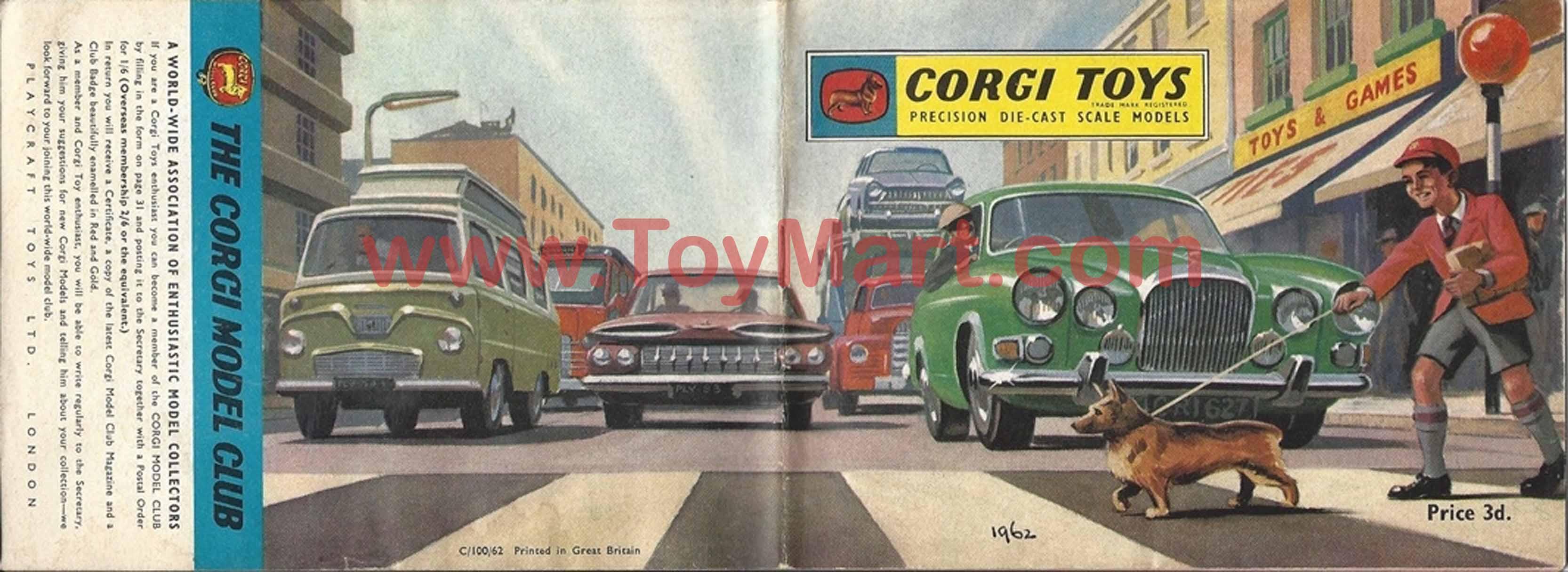 Corgi Toys Catalogue 1963 - Red Cover: toymart.com/catalogues_corgi_1963_red.php