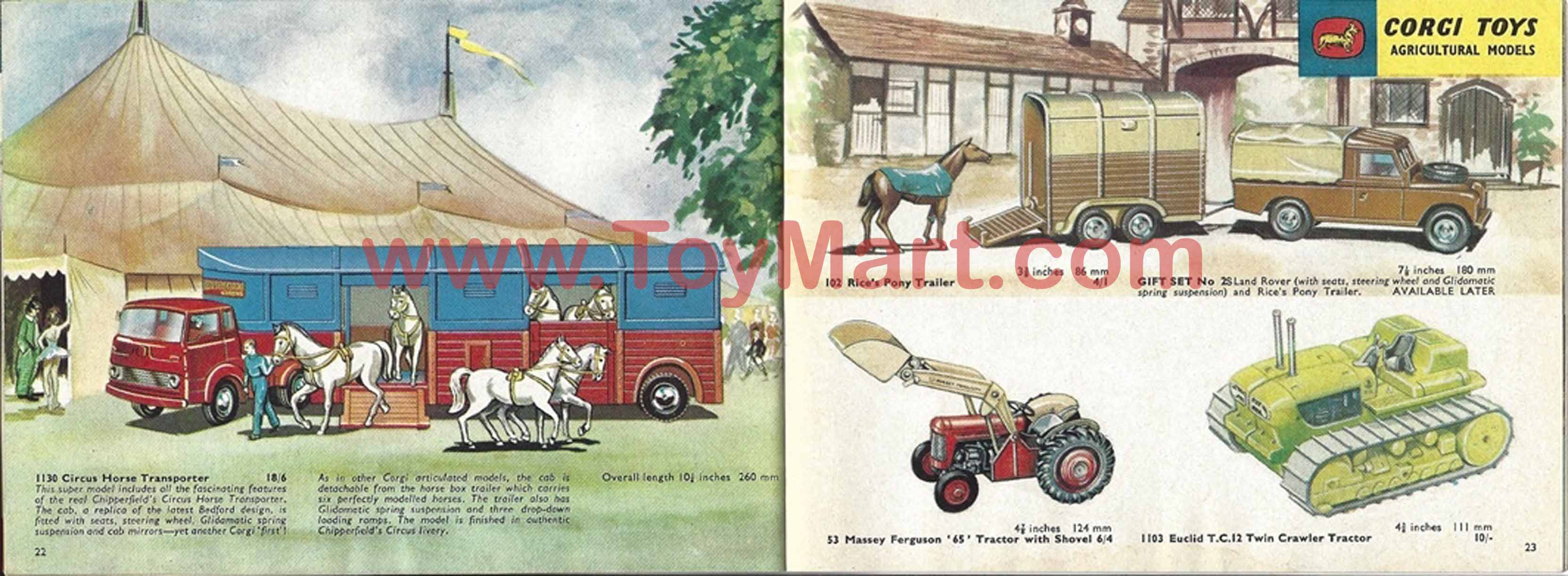 Corgi toys catalogue 1963 - Red