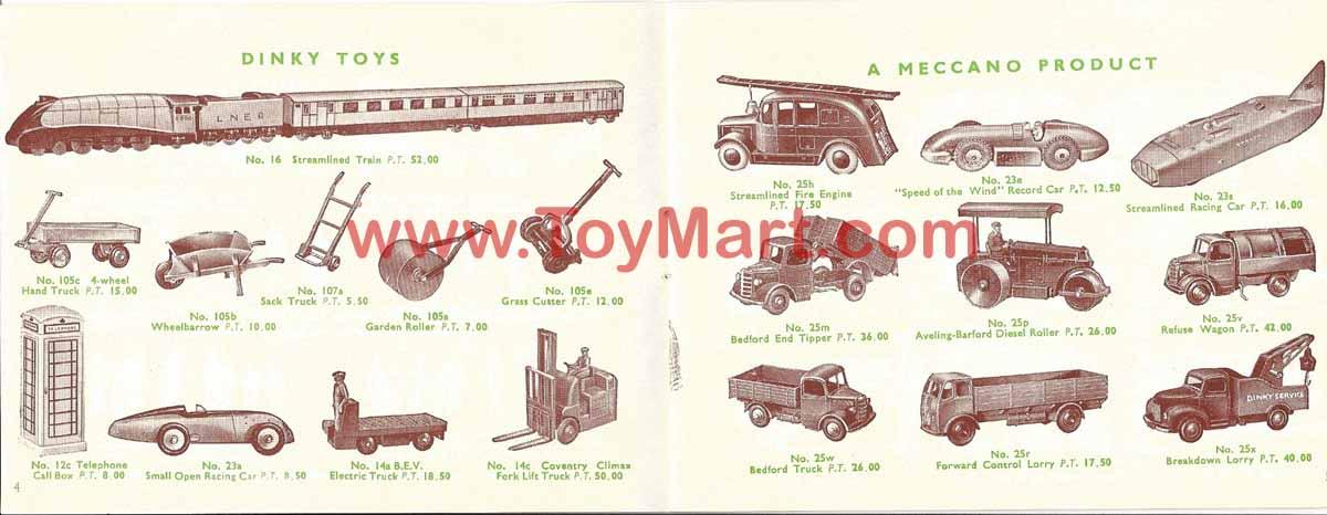 Dinky toys catalogue 1952 04/05