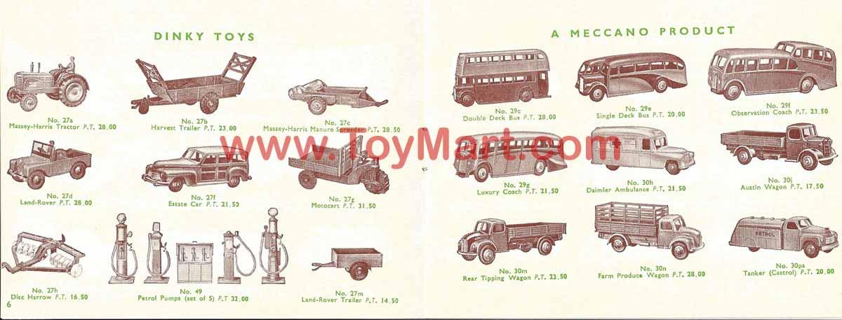 Dinky toys catalogue 1952 06/07