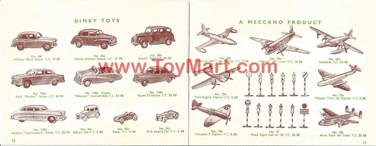 Dinky toys catalogue 1952 10/11
