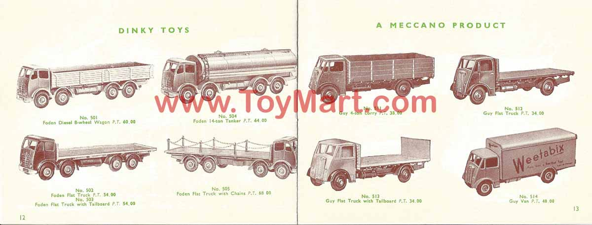 Dinky toys catalogue 1952 12/13