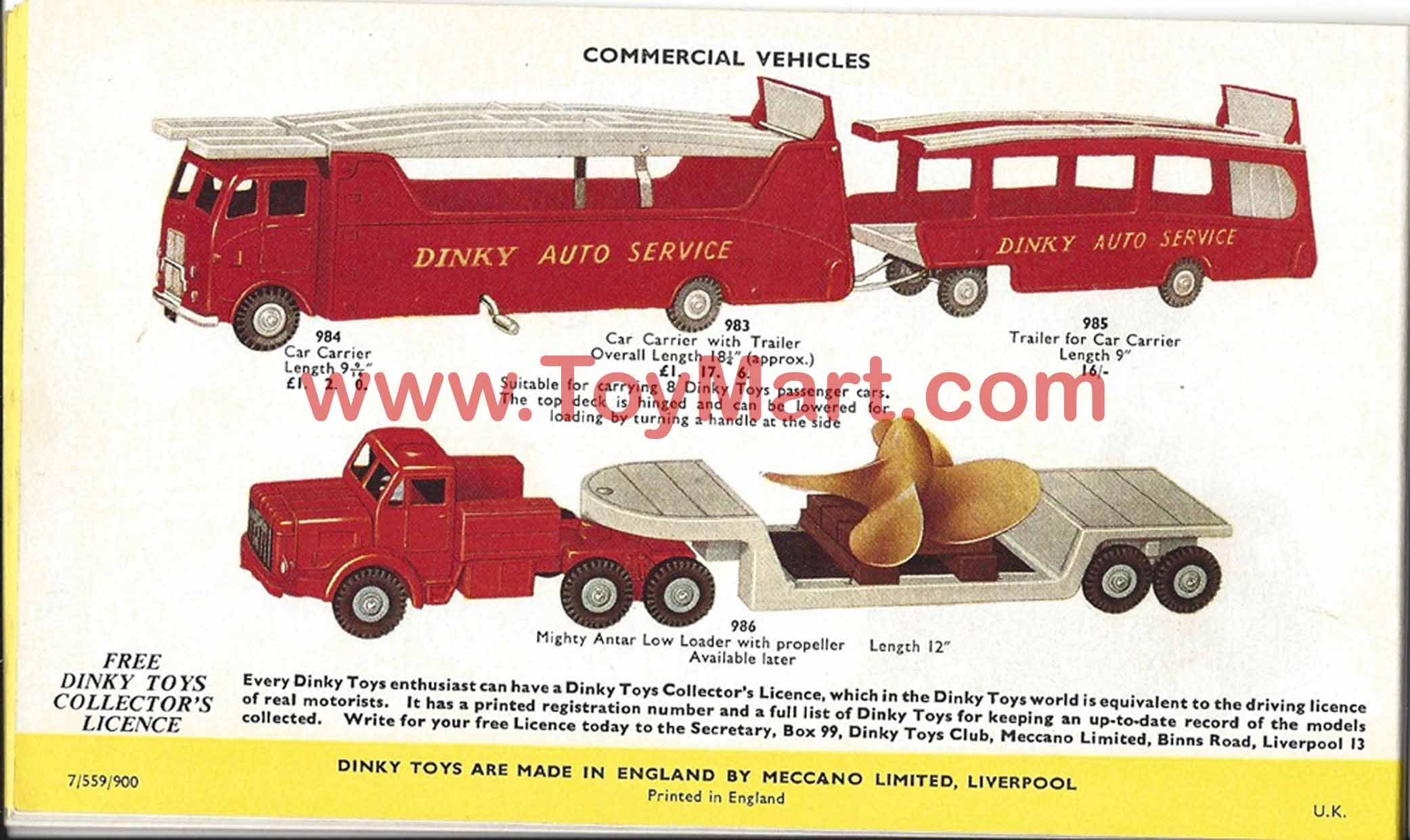 Dinky Toy Catalog