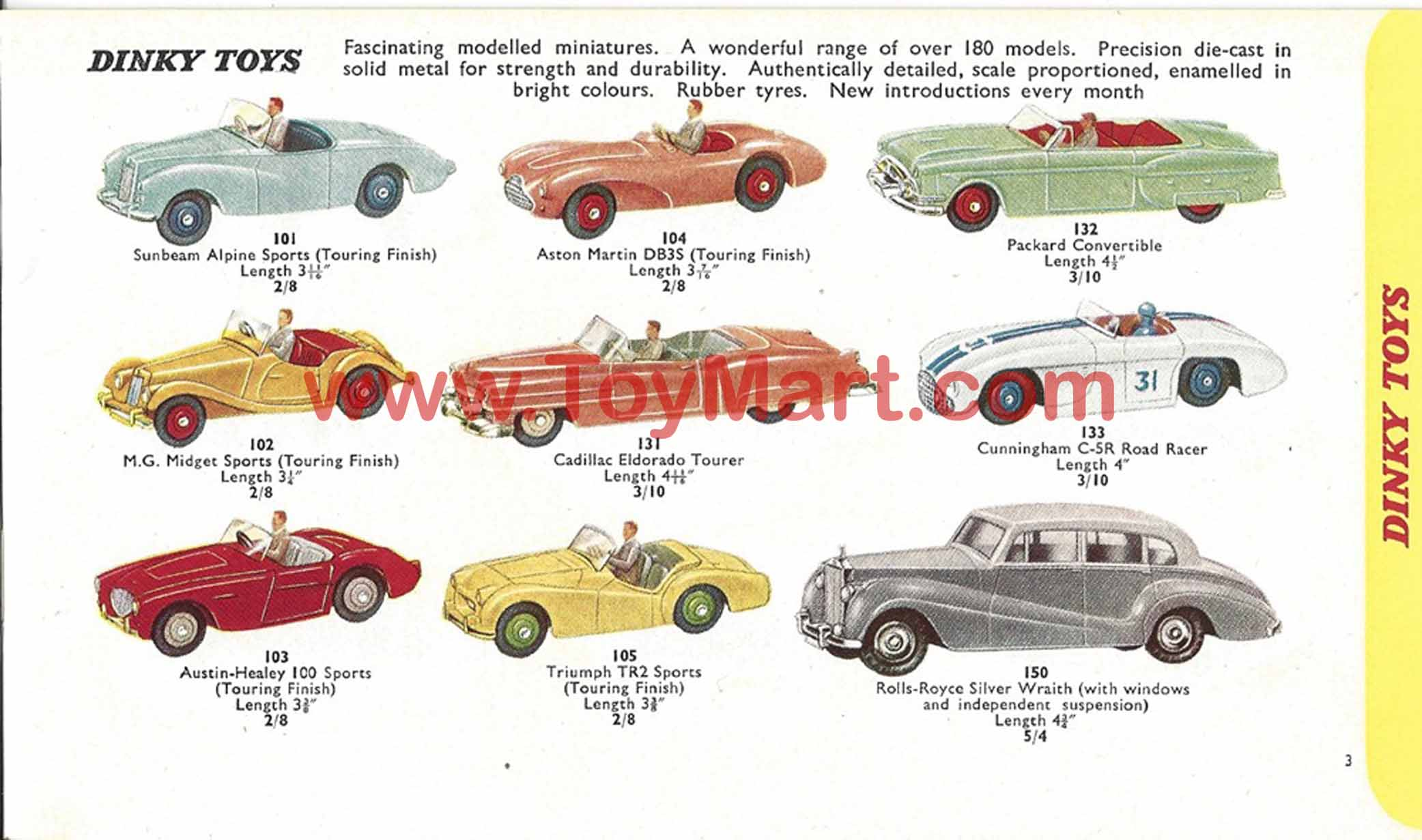 Dinky Toy Cars Price Guide