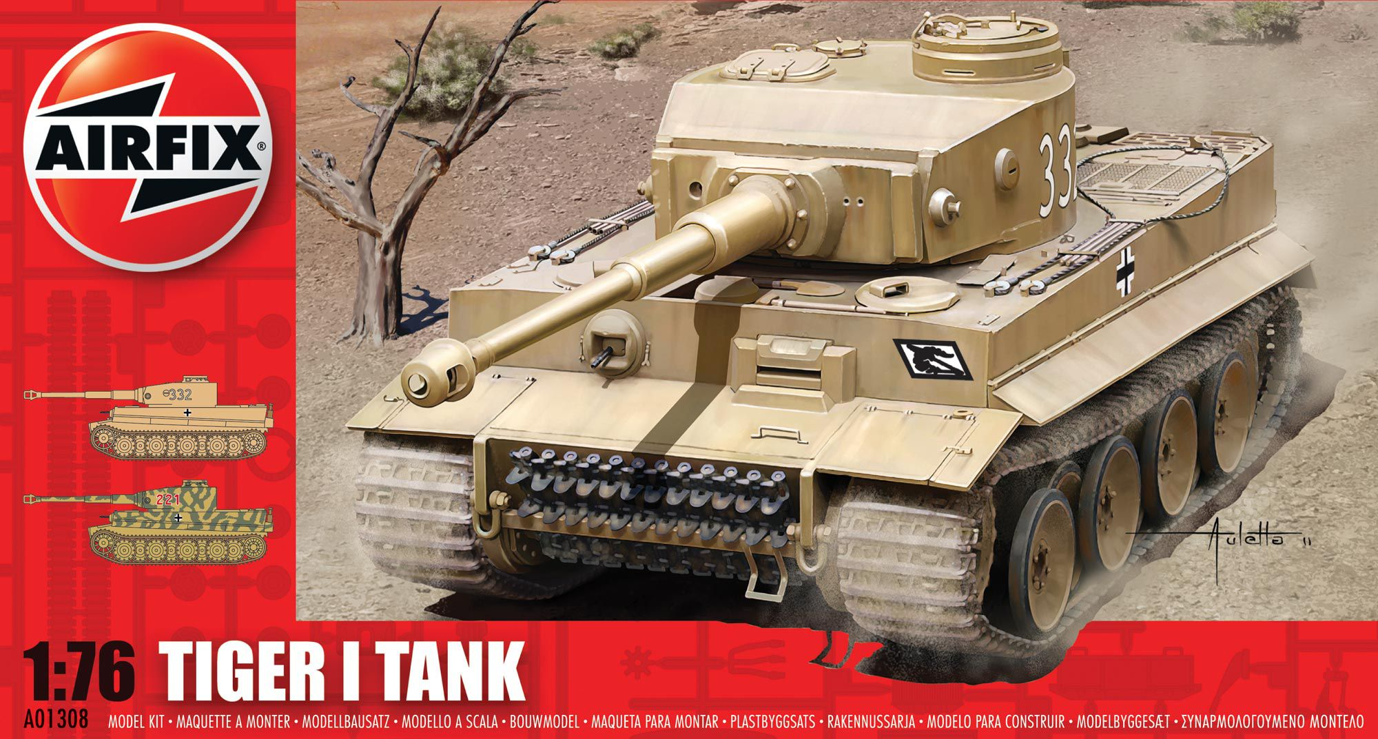 Picture Gallery for Airfix A01308 Tiger I Tank 1:76