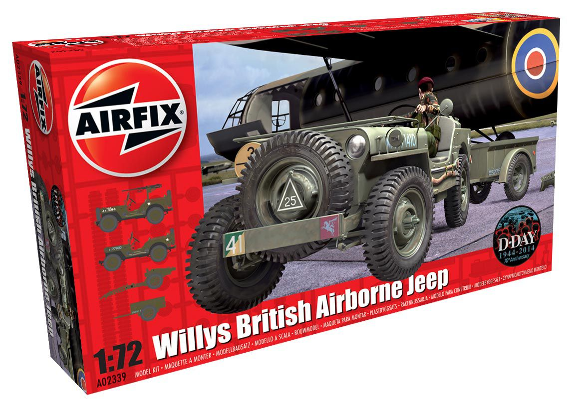 Picture Gallery for Airfix A02339 Willys British Airborne Jeep 1:72