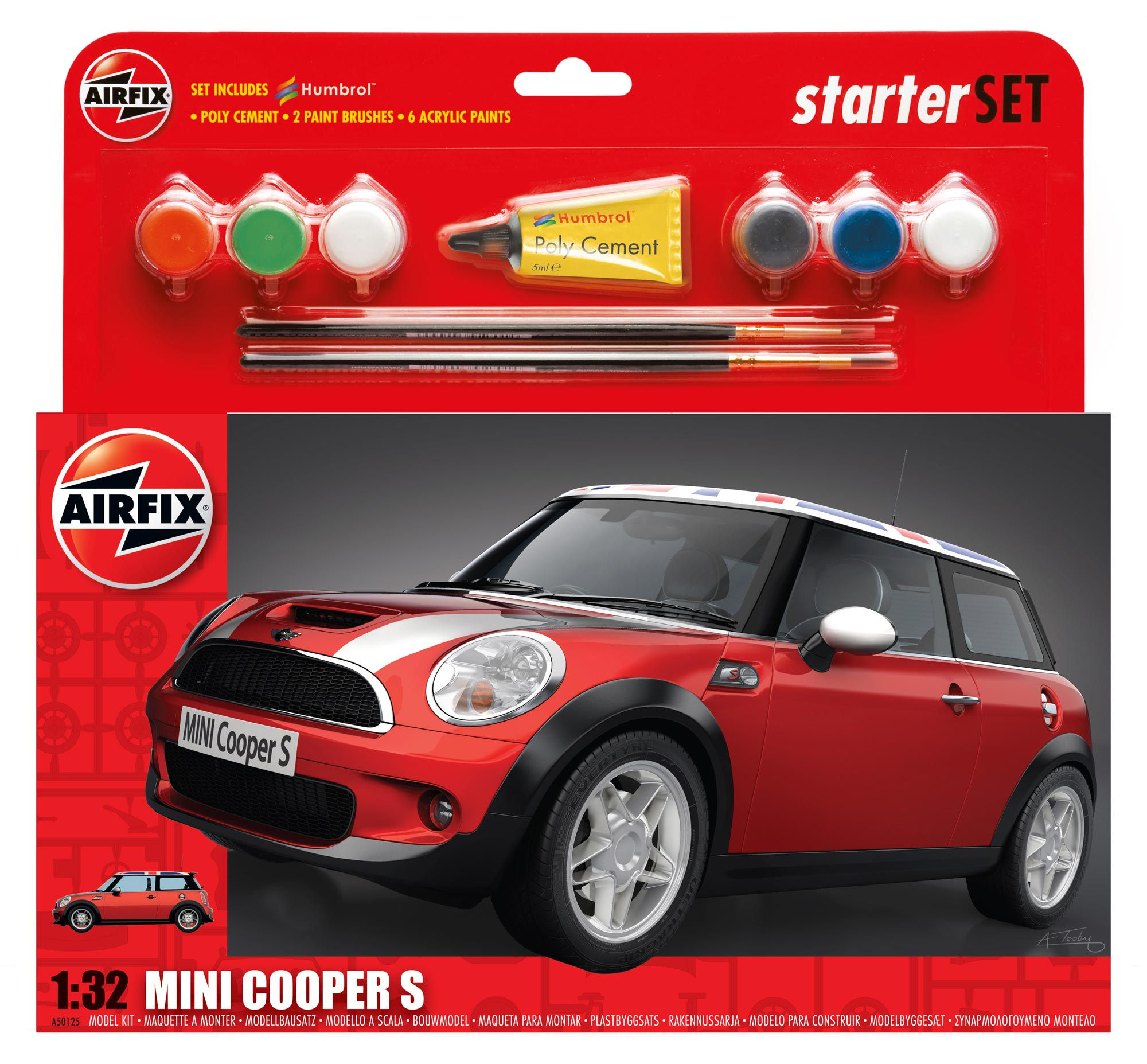 Picture Gallery for Airfix A50125 MINI Cooper S Starter Set 1:32