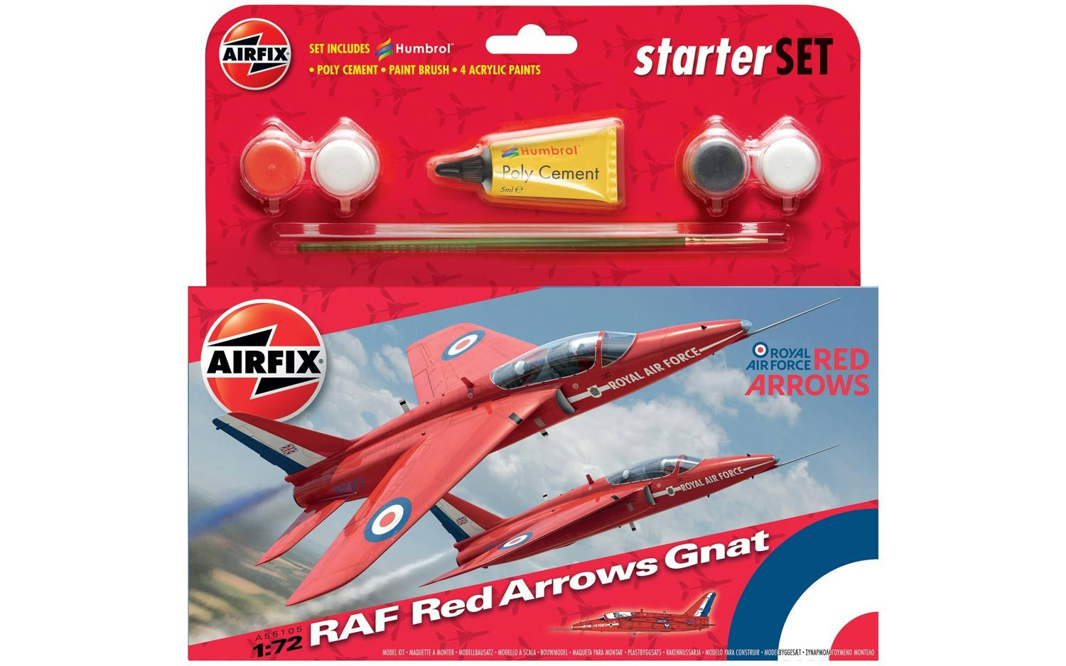 Picture Gallery for Airfix A55105 Airfix RAF Red Arrows Gnat Starter Set 1