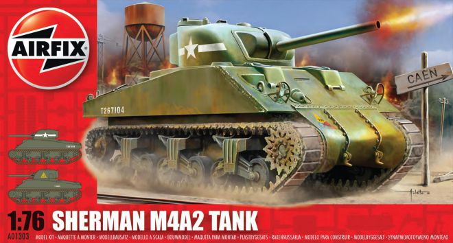 Picture Gallery for Airfix A01303 Sherman M4A2 Tank 1:76