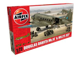 Picture Gallery for Airfix A09008 Douglas Dakota MkIII with Willys Jeep 1: