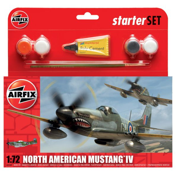 Picture Gallery for Airfix A55107 North American Mustang IV Starter Set 1: