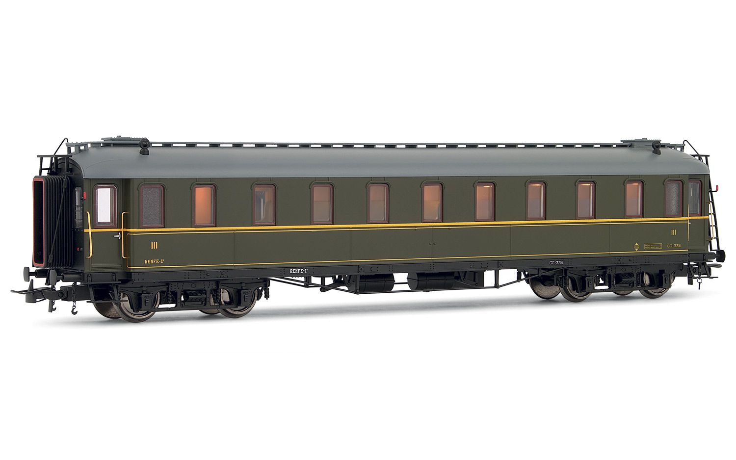 Picture Gallery for Electrotren E15016 3rd class coach, RENFE - CC 334