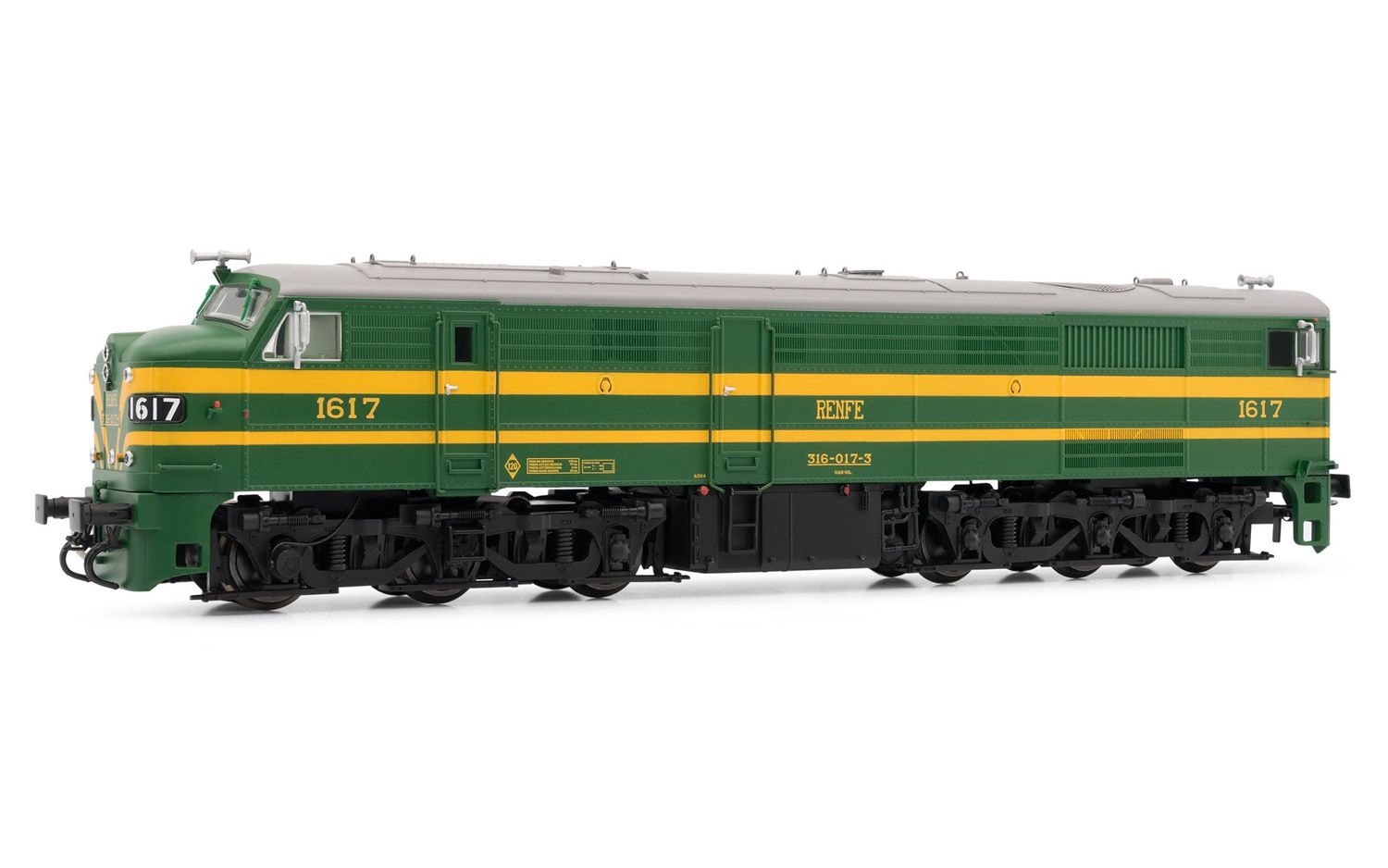 Picture Gallery for Electrotren E2413 Diesel locomotive 316.017 RENFE