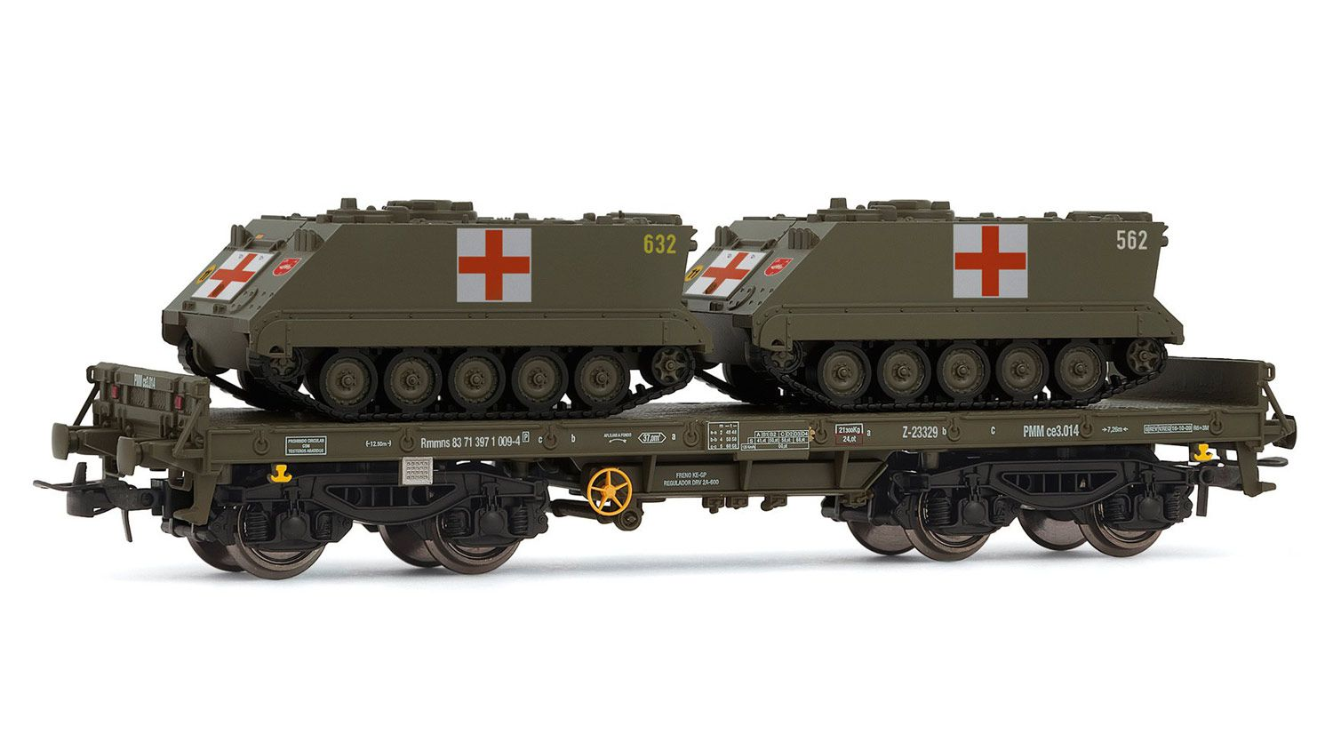 Picture Gallery for Electrotren E5174 Low Side Wagon with Medical APCs - R