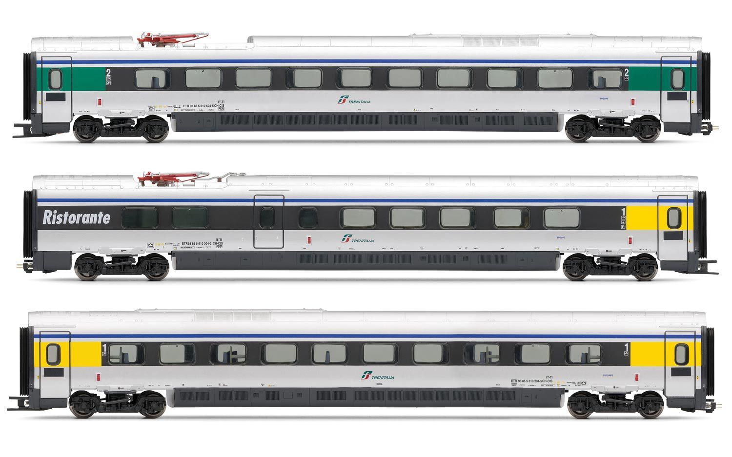 Picture Gallery for Lima HL4650 3 x ETR 610 Coaches - ex Cisalpino l