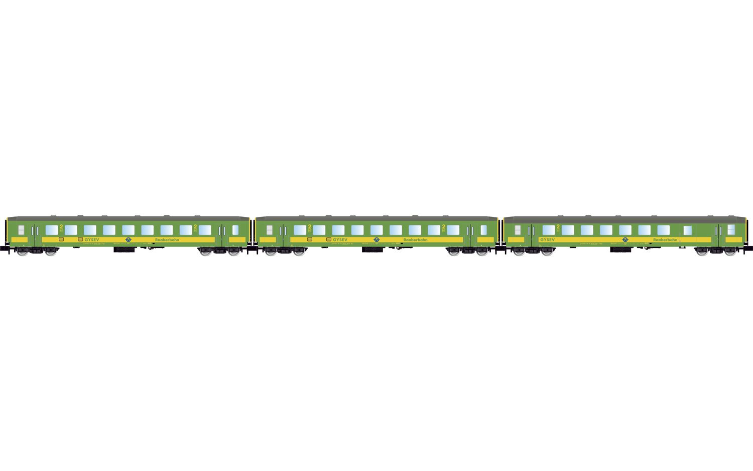 """Picture Gallery for Arnold HN4209 3-unit set coaches """"Schlieren"""" of th"""