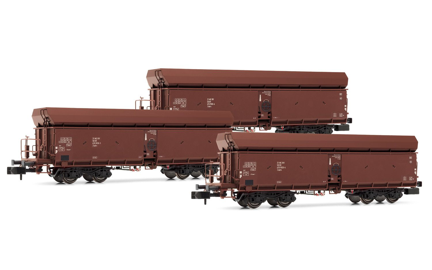 Picture Gallery for Arnold HN6366 3-unit set self discharging wagons,