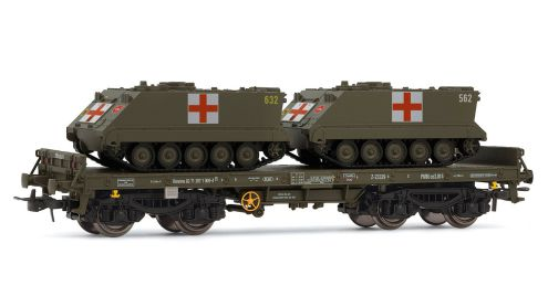 Low Side Wagon with Medical APCs - R