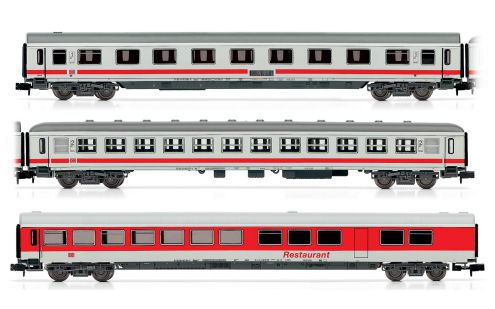 "Picture Gallery for Arnold HN4116 3-unit passenger coach set ""IC train"