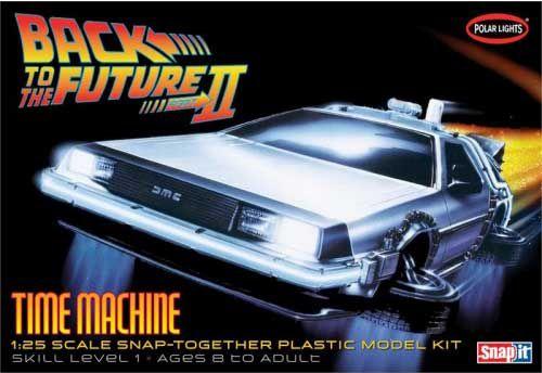 DeLorean Time Machine Back To The Future 1:25 Snap Model Kit Polar Lights POL911