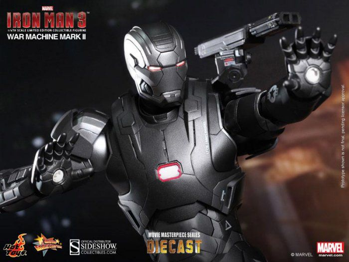 Picture Gallery for Hot Toys 902043 War Machine Mark II Diecast Figure  Iron Man 3