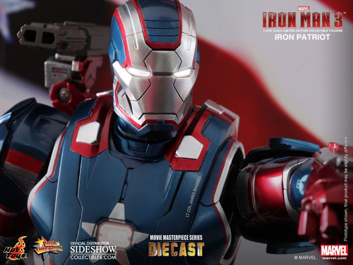 Picture Gallery for Hot Toys MMS195 Iron Man Patriot Poseable Figure  Iron Man 3