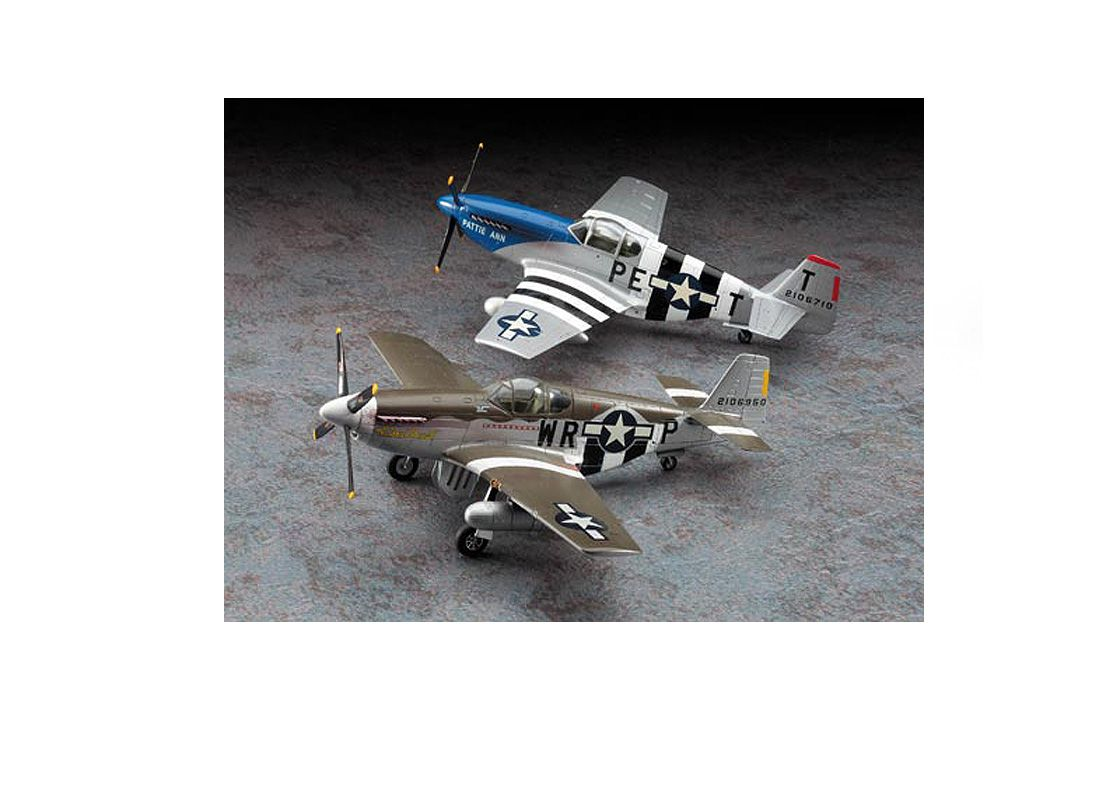 Picture Gallery for Hasegawa HS02054 North American P-51 B Mustang D-Day Marking Combo