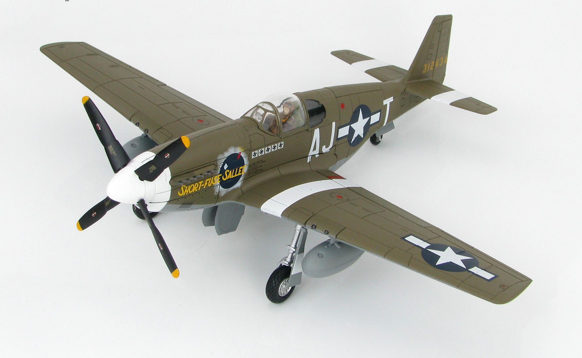 Picture Gallery for Hobby Master HA8509 North American P-51B Mustang 43-12434 Short-Fuse Sallee (USA