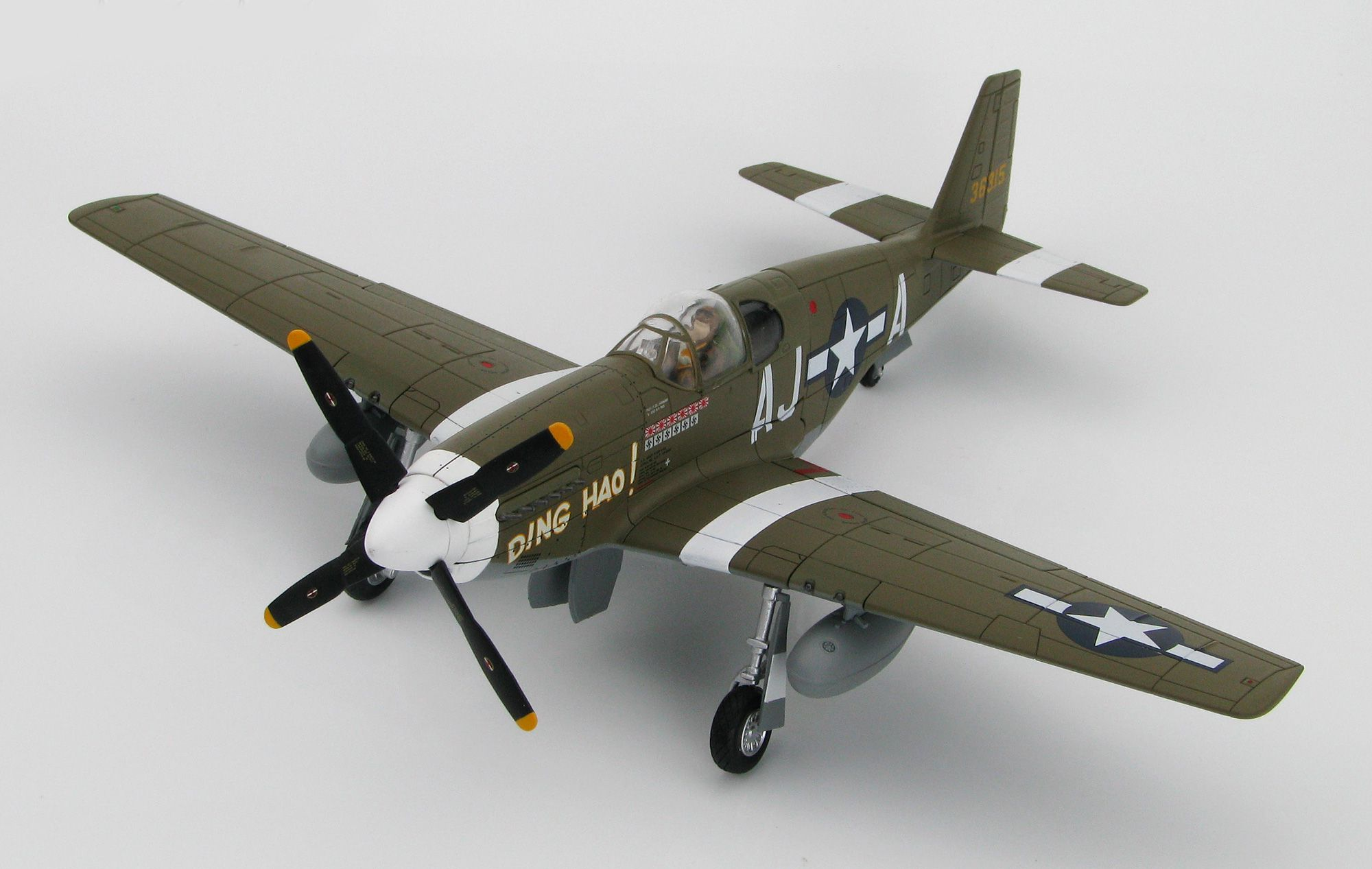 Picture Gallery for Hobby Master HA8508 North American P-51B Mustang 43-6315 Ding Hao (USAAF 487 FS