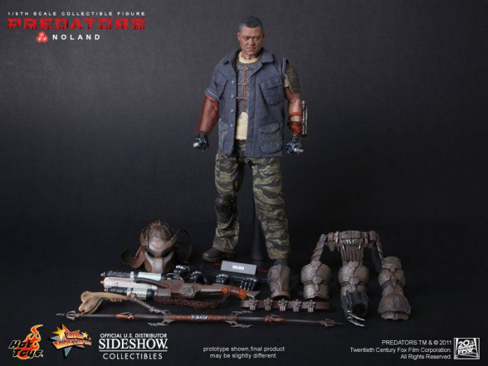 Hot Toys MMS 163 Noland Predators Laurence Fishburne 12 inch Action Figure NEW