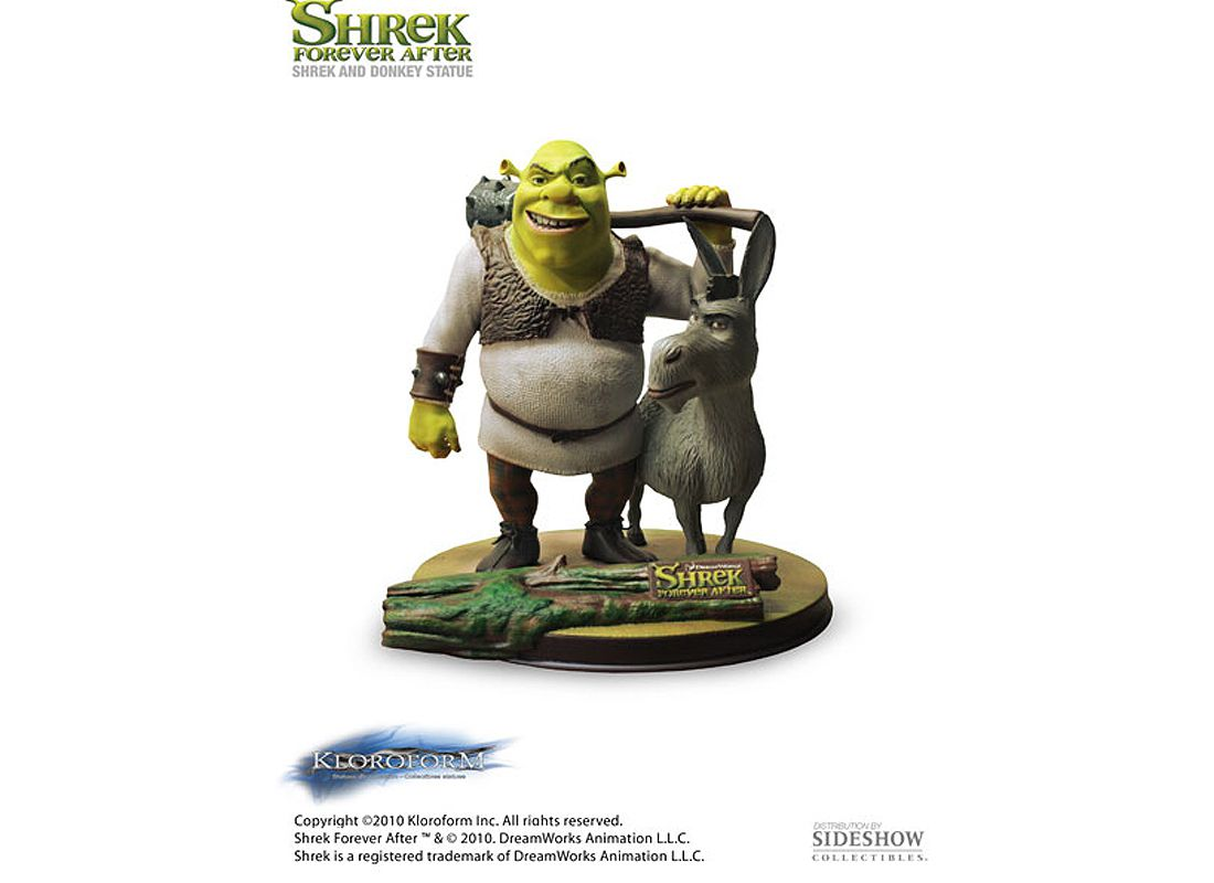 Picture Gallery for Kloroform 900865 Shrek and Donkey Statue  Shrek Forever After