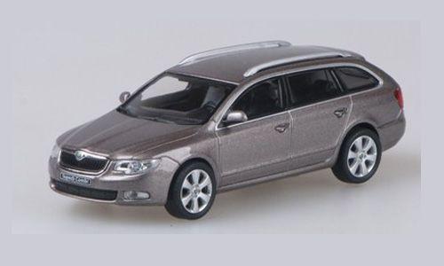 Skoda Superb II 2008 Steel Grey Metallic 1:43 Model ABREX