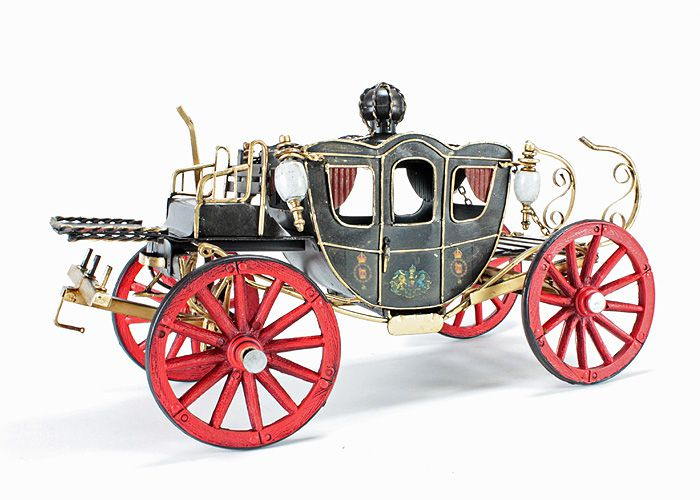 Picture Gallery for Tinplate Collectibles JLW1742M-BK Spyker Royal Carriage (1898) Tinplate Model Car