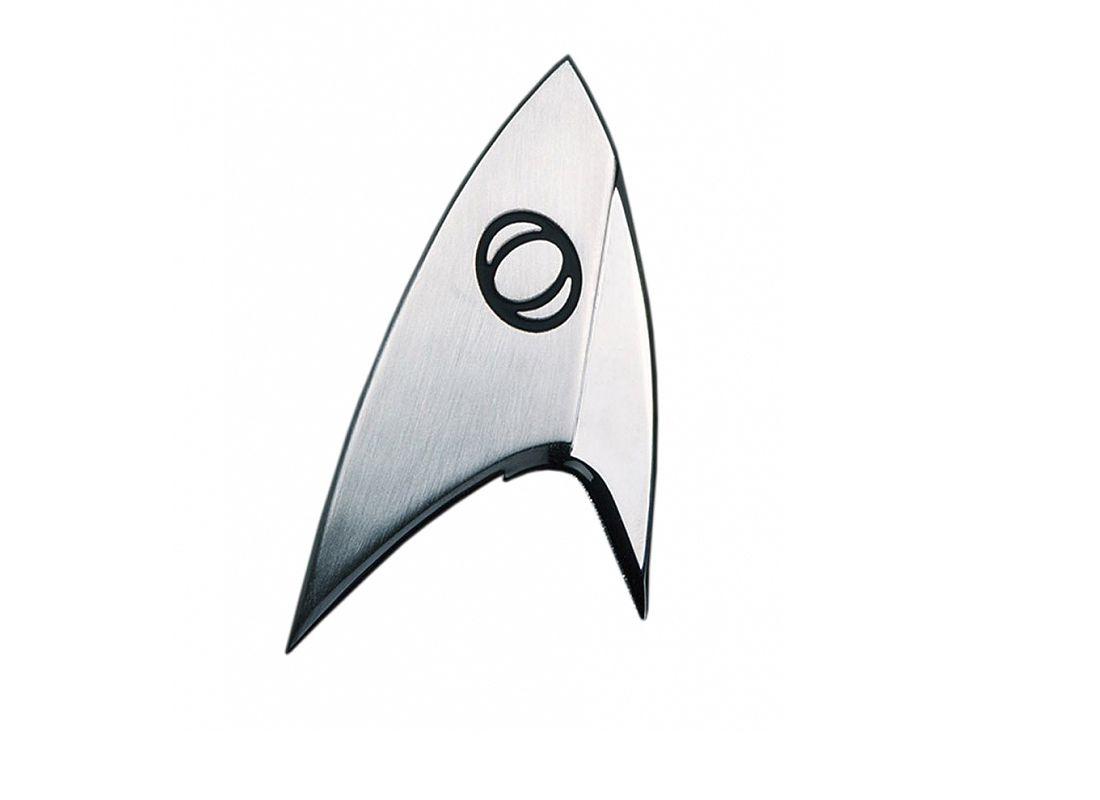 Picture Gallery for Quantum QSTR130 Science Division Communicator Badge Prop Replica  Star Trek