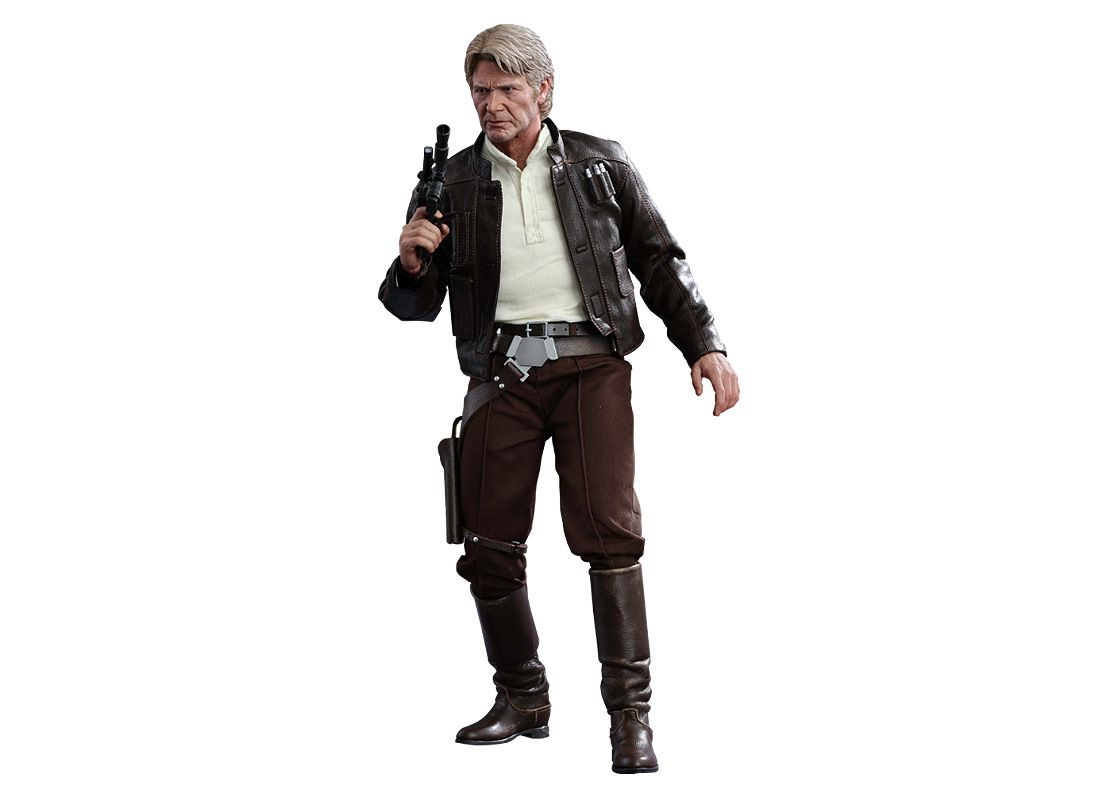 Hot Toys Mms374 Han Solo Harrison Ford Figure Star Wars The Force Awakens Free Price Guide Review