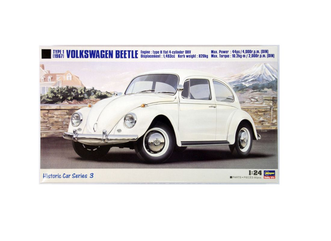 Picture Gallery for Hasegawa HC-3 VW Beetle (1967)  - Kit