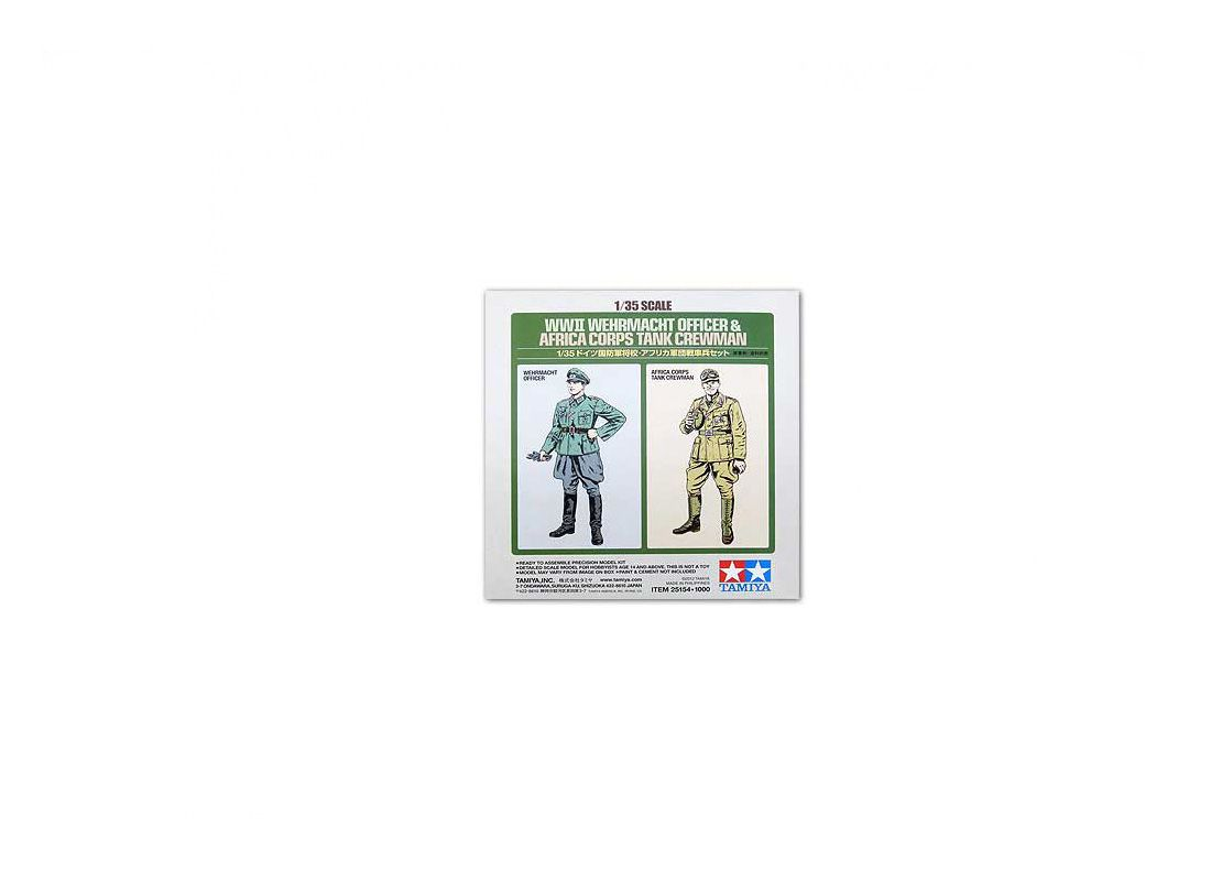 Picture Gallery for Tamiya TAM25154 Wehrmacht Officer and Africa Corps Tank Crewman Figure