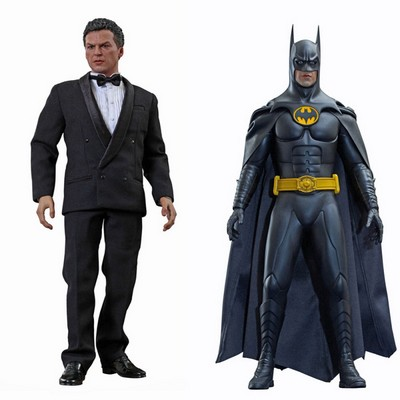 Picture Gallery for Hot Toys MMS294 Michael Keaton and Bruce Wayne Figure Set  Batman Returns