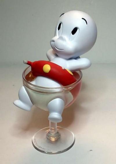 Casper in Wine Glass Figure  Casper