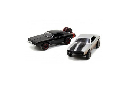 Dodge Charger and Chevrolet Camaro Model Car Set  Fast And F