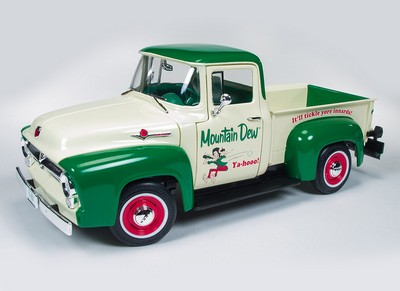 Picture Gallery for ERTL AW211 Ford F 100 Pickup (Mountain Dew 1956)