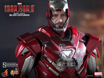 Picture Gallery for Hot Toys MMS213 Iron Man Mark 33 Silver Centurian Poseable Figure  Iron Man