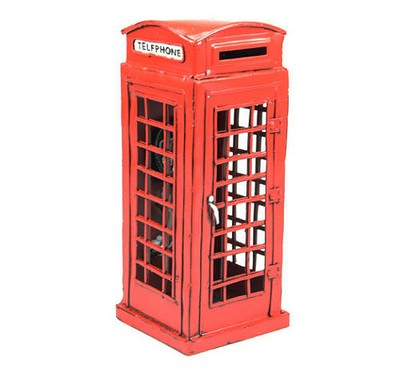 Red Telephone Box Savings Bank Accessory
