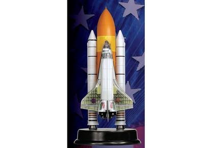 Space Shuttle Discovery with SRB Cutaway Version Spacecraft