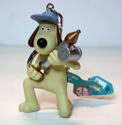 Gromit with Anti-Pesto Gun Keychain  The Curse Of The Were R