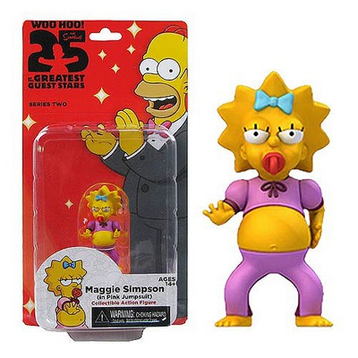 Picture Gallery for Neca 16040 Maggie Simpson in Pink Jumpsuit Figure  The Simpsons