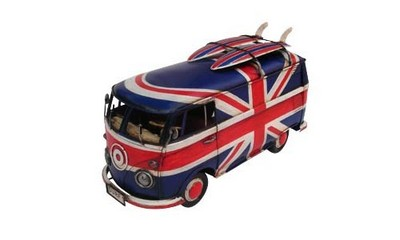 Picture Gallery for Tinplate Collectibles JLBS21991-RB VW T1 Van with Union Jack (1967) Tinplate Model Car