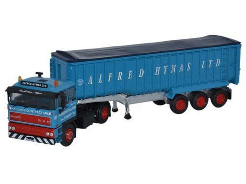 Oxford Diecast 76D28002, Daf 2800 Curtainside Tipper Alfred Hymas