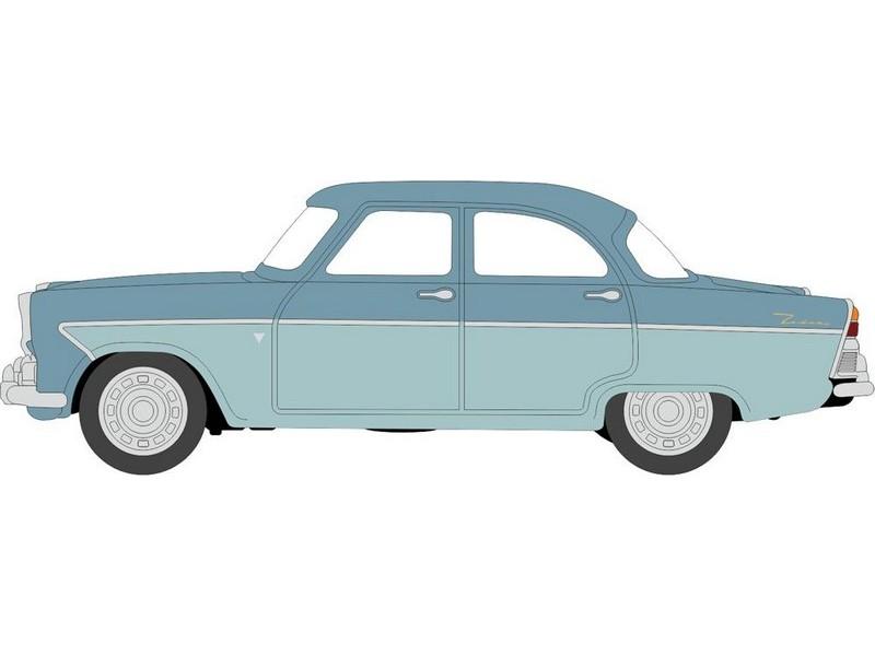 Oxford 76FZ001 Ford Zodiac MkII Shark Blue//Pompadour Blue 1:76 Scale